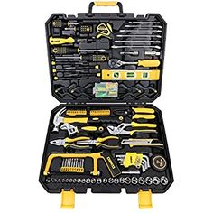 Amazon.com DEKO 168pcs Tool Set- for Auto Repair, General Household with Wrench and Plastic ToolBox    #tool #home #repair #Maintenance #set #gift #metal #yellow #black #steel #diy #shopping #work #toolbox