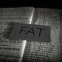 Eating Disorder. Fat. Anorexia. Weight. Pounds. Book.
