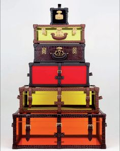 elle: Wanderlust We're thinking of getting away! What better way to travel than with a stack of Loewe luggage? Photo: courtesy of Loewe Vintage Suitcases, Vintage Luggage, Vintage Baskets, Travel Luggage, Travel Bags, Travel Suitcases, Luxury Luggage, Pack Your Bags, Tumblr Fashion