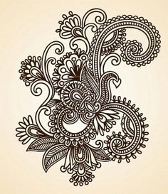 Paisley design. I love the abstract whimsical nature of paisley prints and I'd love a super colorful piece like this.
