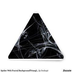 Spider Web Fractal BackgroundTriangle Sticker