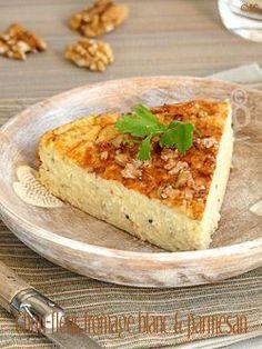 Gâteau au chou-fleur, fromage blanc & parmesan