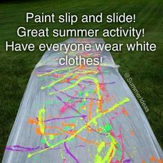 Paint slip n slide so going to do this with jade monkey