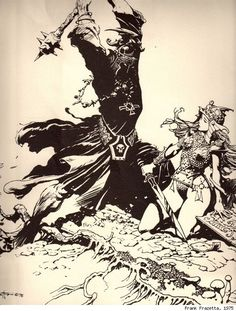 Frank Frazetta's 'Lord of the Rings' Illustrations - Eowyn & Witch King