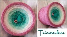 Bobbel *Träumchen* Material: Hochbauschacryl 5 Farben: (rein) oceangrün eisblau weiss rosa altrosa