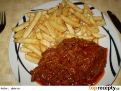 Steak, Spaghetti, Food And Drink, Beef, Cooking, Ethnic Recipes, Fitness, Food, Red Peppers
