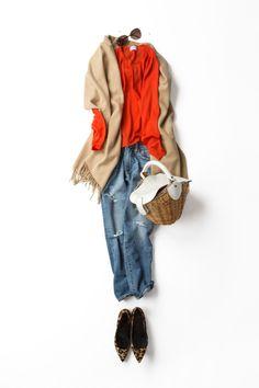 Kyoko Kikuchi's Closet | ときには、ダメージデニムを優しくキュートに着てみる