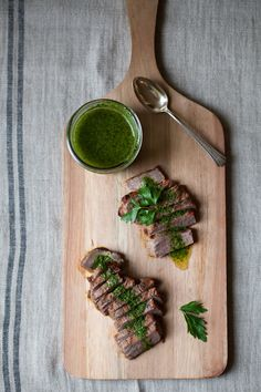 Tri-Tip Steaks with Chimichurri Sauce