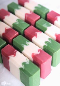 Learn how to make this Cinco de Mayo cold process soap, inspired by the Mexican flag!
