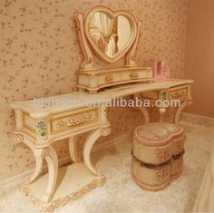 European royal bedroom furniture,European princess bedroom set,Classical dressing View elegant dresser with mirror, BISINI Pr. Antique Bedroom Furniture, European Furniture, Patio Furniture Sets, European Bedroom, Modern Bedroom, Antique Buyers, Royal Bedroom, Victorian Interiors, Princess Room