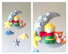 Baby mobile  The Little Prince mobile  Moon by lovefeltmobiles
