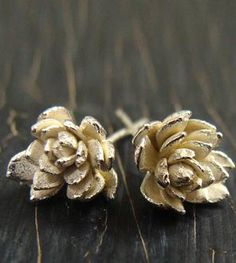 Field Flower Silver Earrings
