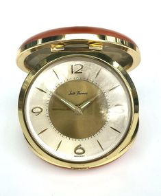 Vintage Alarm Clock Seth Thomas Orange Germany Mod Trava Maid | Etsy