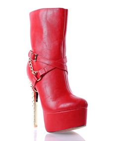 Fashion Ankle / Mid-calf Chain Style Spikes Sexy Booties 6' High Heels Buckles Zip Womens Boots Shoes New Without Box -- Wow! I love this. Check it out now! : Boots Shoes