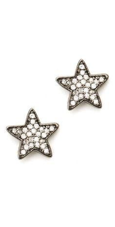 Pristine Star Stud Earrings