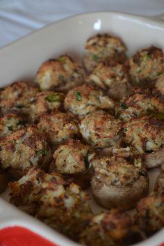 Crab Stuffed Mushrooms - Feast of 7 Fishes - Aloha: Yinz Mangia