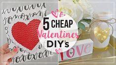 Valentines Day DIY Home Decor Ideas | Cheap Valentines Day Crafts | DIY Valentines Decorations