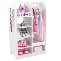 Sometimes kids just need something extra special to keep their dress up play neat and tidy! With a bright white finish, our dress up unit is perfect for storing and organizing play clothes, shoes, toys and more! <br><br>Capture the power of your child's imagination with heirloom-quality children's furniture made by <b>KidKraft</b>. <br><br>Founded in 1968 by a group of engineers, <b>KidKraft</b> is committed to designing children's furniture and wooden toys that integrate high-quality…