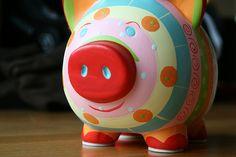 colorful piggy bank