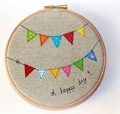 bunting embroidery hoop art!..