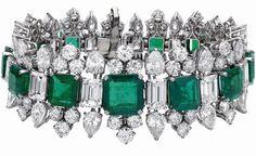 Bulgari - Liz Taylor Diamond And Colombia Diamond Bracelet