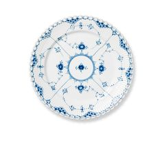 Royal Copenhagen Blue Fluted Full Lace Dinner Plate 27 cm