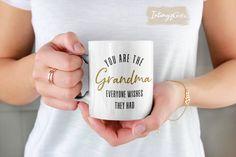 Personalized Grandma Coffee Mug, Grandma Gift Mug, Personalized Birthday Present for Grandmother Funny Coffee Mugs, Coffee Humor, Funny Mugs, Coffee Cup, Family Humor, Mom Humor, Funny Family, Cute Gifts, Best Gifts
