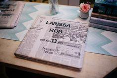 newspaper guestbook ideas