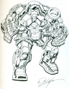Hulk Buster Iron Man by Bob Layton Comic Art