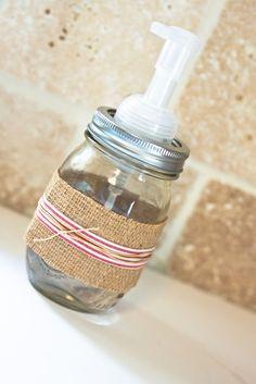 the winthrop chronicles: mason jar soap dispenser
