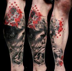 35 Trash Polka Tattoo Designs 20