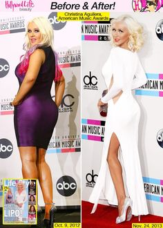 christina aguilera before and after weight | Christina Aguilera Weight Loss