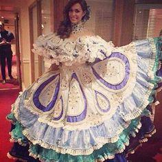 Traje de Llanera - Debora Menicucci  para el Miss World 2014..