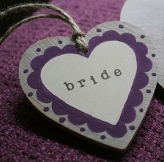 Place name hearts - DIY.