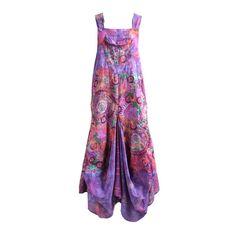 Tie Dye & Print Dungaree Drape Maxi Dress