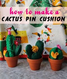 How to make a cactus pincushion, by Va-Voom Vintage