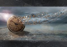 """""""Time is gone"""" Digital Art by vimark posters, art prints, canvas prints, greeting cards or gallery prints. Find more Digital Art art prints and posters in the ARTFLAKES shop. Les Fables, Surreal Artwork, Surreal Photos, Father Time, Time Art, Dali, Photo Manipulation, Time Travel, Digital Art"""