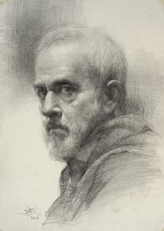 Portrait pencil drawing, Demo by Chien Chung-Wei