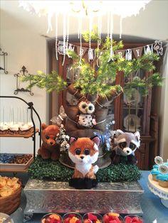 Woodland baby shower theme, Diaper Tree !!
