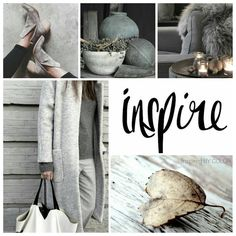 """Color Mood Board     """"Inspire New Season"""" with shades of morning fog and mist"""