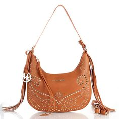 Michael Kors Rhea Stud Metallic Small Brown Crossbody Bags Are High Quality And Cheap Price!
