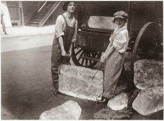 Girls Deliver Ice, ca. 1918