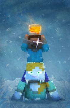 Un fan art qui montre comment sauver votre ami s'il est gelé dans la nouvelle neige poudreuse. #nefaitespasça #ilvamourir #Minecraft Minecraft Images, Minecraft Comics, Minecraft Drawings, Minecraft Tips, Minecraft Creations, Minecraft Fan Art, Minecraft Designs, Amazing Minecraft, Cute Pokemon Wallpaper