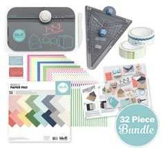 We R Memory Keepers - Punch Board Pack - 32 Piece Party Tool Bundle is perfect for planning your next party. Create banners, bows, boxes, envelopes and more!