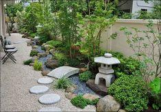 90 Beautiful Side Yard Garden Path Design Ideas - Garden Care, Garden Design and Gardening Supplies Japanese Garden Backyard, Small Japanese Garden, Japan Garden, Japanese Garden Design, Japanese Gardens, Chinese Garden, Japanese Garden Landscape, Zen Garden Design, Path Design