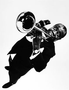 Louis Armstrong, New York City, 1953. Photographed by Philippe Halsman.