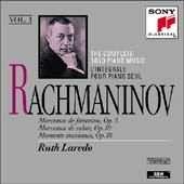 Rachmaninov: Complete Solo Piano Music Vol 1, by  Ruth Laredo