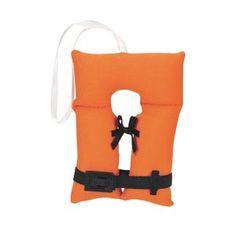"""Nautical Tree 3.25"""" Orange Life Jacket  Boating Vest Christmas Ornament"""