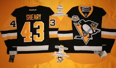 Conor Sheary New Home Pittsburgh Penguins Reebok Hockey Jersey w/ 50th Patch NHL #Reebok #PittsburghPenguins