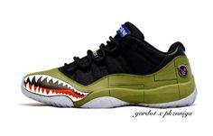"Air Jordan 11 Low ""11th Airborne"" Custom"